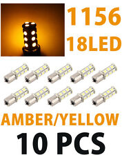 Lot 10Pcs Amber 18 Led Car Auto Tail Rear Turn Brake Light Bulbs Lamp Ba15S 1156