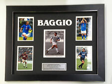 ROBERTO BAGGIO UNIQUE PROFESSIONALLY FRAMED, SIGNED  PHOTO COLLAGE WITH PLAQUE.