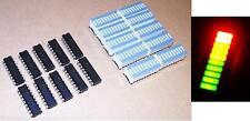 10 pcs LM3914 LED Driver + 10 pcs TriColor Fixed 10-Segs LED Bargraph - USA