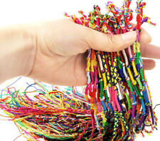 10/50Pcs String Lucky Colorful Friendship Braid Strand Handmade Bracelet Women