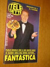 TELESETTE 1995/49=PAOLO BONOLIS=MINA LUCIO BATTISTI=MARIA DE FILIPPI AMICI=ECT