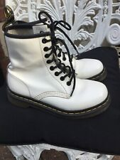 Doc Martens Off White Patent Leather Boots 1460 8hole Uk3/36 Used