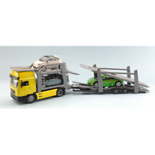 CAMION MAN F 2000 BISARCA YELLOW WITH 3 CARS 1:43