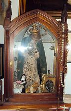 scarabattola votiava tabernacolo vetrina teca neogotica liberty noce perfilato