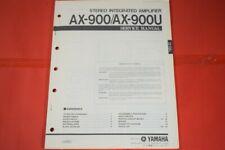 Originale Service Anleitung und Schaltplan Yamaha AX-900 / AX-900U Amplifier!!