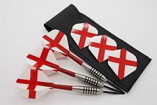 19g - 32 Tungsten Darts set, John Lowe Type, England Flights, Stems & Dart Case