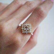 1ct Morganite & Diamond Halo Engagement Ring 14k Rose Gold