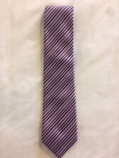 UNBRANDED CLASSIC BLACK/RED/PINK STRIPED SILK TIE 3.5IN BRAND NEW