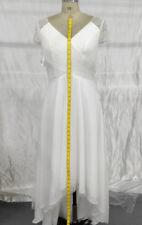 Princess V-Neck Asymmetrical Tulle Wedding Dress (1818)