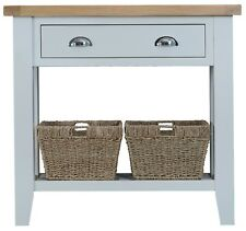 CANTERBURY GREY PAINTED OAK CONSOLE TABLE / HALLWAY UNIT / TELEPHONE STAND