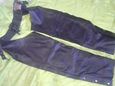Mens leather motorcycle chaps. New.  Bikers gear.