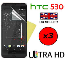 3x HQ ULTRA CLEAR HD SCREEN PROTECTOR COVER FILM GUARDS FOR HTC DESIRE 530