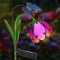 Solar Power Garden LED Light Peacock Bird Ball Shape Dragonfly Decor Night Lamp