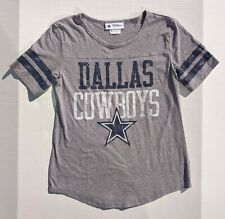 Dallas Cowboys Authentic Football Women's Shirt Size Small Gray Rounded Bottom