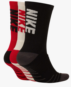 Nike Socks Mens Large Authentic 3 Pairs Dri Fit Everyday Cushioned Crew Training