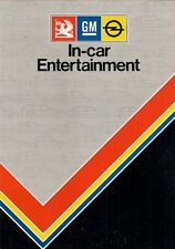 VAUXHALL OPEL Accessorio in auto Entertainment 1983 UK Opuscolo RADIO CASSETTE