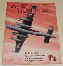 AERO MODELLER July 1958 Plans VICKERS Viscount 701- TWIDDLER AVRO Shackleton MR3