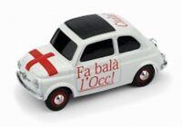 """1/43 FIAT 500 """"FA BALA' L'OCC"""" - MILAN L'E' UN GRAN MILAN  Brumm S1723"""