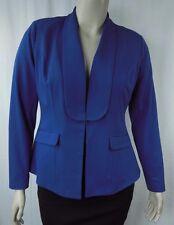 City Chic Blue Long Sleeve Fresh Ponte Blazer Jacket Plus Size XS 14 BNWOT CC805