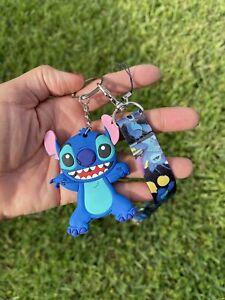LILO & STITCH LANYARD Blac Disney cute neck strap keychain And Strap To Hold ID