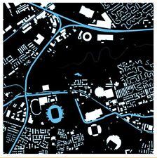 Manchester City FC - Etihad Stadium Printed Artwork Football Gift Map Stadiamap