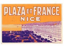 Hotel Luggage Label/Decal For Plaza Et France Nice