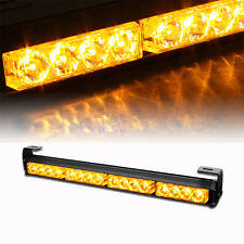 12V 16 LED Long Dash Strobe Emergency Lights Car Warning Light Police Yellow