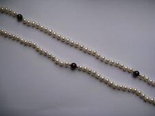 "34 "" de culture blanc perle Strand Collier avec grenade perles"