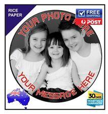 Custom Photo Rice Paper Edible Image Personalised Birthday Cake Topper- 19cm