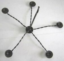 Fine Wrought Iron Folding Chandelier For Five Candles .