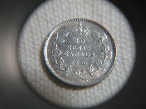 1906 Canada 10 Ten Cents