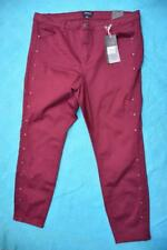 AUTOGRAPH Berry Panel Stud JEANS Size 18. NEW rrp $79.99 STRETCH Straight Leg