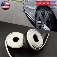 2 x 8 FT Black w/ White Trim EZ Fit Bottom Line Side Skirt Extension For  Nissan