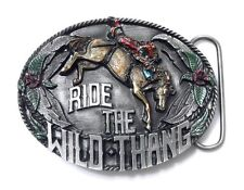 Ride The Wild Thang Belt Buckle 14063 new cowboy rodeo western sports buckles