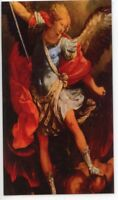 ST. MICHAEL- HEART PRAYER - Laminated  Holy Cards.  QUANTITY 25 CARDS