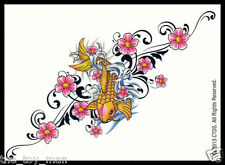 PRETTY JAPANESE KOI FISH & FLOWERS TEMPORARY TATTOO~MOTHERS DAY GIFT FOR MOM HER