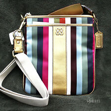 NWT COACH Multi LEGACY STRIPE Crossbody Swing Bag Swingpack PURSE NEW
