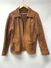 The Territory Ahead Mens Size Large Jacket Brown Leather Distressed Full Zip