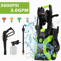Max 3800PSI 3.0GPM Electric Pressure Washer Powerful Cold Water Cleaner Machine*