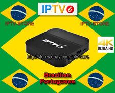 2018 Newest IPTV6 Brazilian Portuguese 4K TV Box IPTV Internet Live 200+ channel