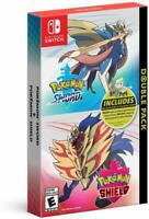Nintendo Switch Pokemon Sword & Shield Double Pack Brand New