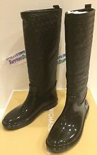 MICHAEL KORS BLAKELEY RAINBOOT BLACK RUBBER 40F5BLFB5Q 6 M NEW $159.95