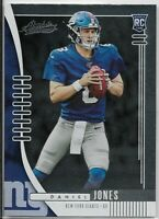 DANIEL JONES 2019 Absolute Football Rookie Card RC # 107 New York Giants