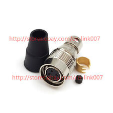 For Hirose 4pin HR10A-7P-4S Male Plug Aviation Connector Industrial Camera Plug