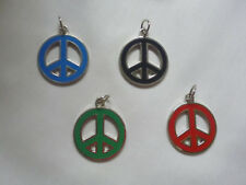 Peace sign lot of 4 nice vintage pendants necklace hippie retro boho charms