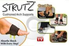 Blue Deluxe STRUTZ Cushioned Arch Supports Instant Relief For Achy Feet One Size