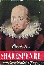 Piero Rebora = SHAKESPEARE 1ª Ed. 1947