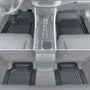 4pc Set Motor Trend Car Floor Mats All Weather Rubber Semi Custom Fit Heavy Duty