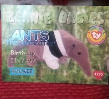 Ants (Blue) Ty Beanie Babies Birthday/Rookie Collector's Card Series 1, 1998