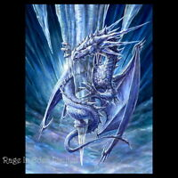 *ICE DRAGON* Anne Stokes Age Of Dragons Fantasy Art 3D Picture (40x30cm approx)